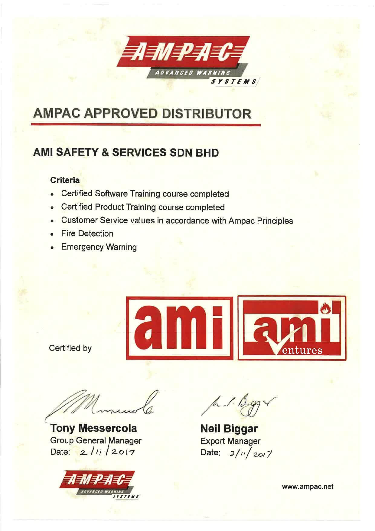 AMPAC Approved Distributor